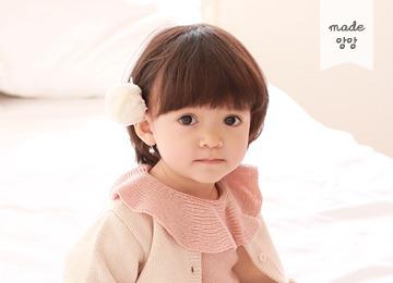 *리오더중* 찹쌀떡 방울 핀 (핑크,민트,아이보리,그레이)