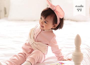 [2016 F/W] 엄마에게선물해요 리본 우주복 (핑크)